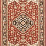 Lotus Garden Coral Red Red Rug 4'0″ x 5'7″ (2)