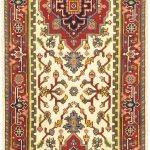 Hand-knotted Serapi Heritage Cream Wool Rug 2'6″ x 12'0″