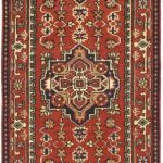 Hand-knotted Serapi Heritage Red Wool Rug 2'6″ x 11'11""