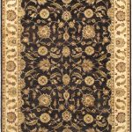 """Hand-knotted Sultanabad Black Yellow Wool Rug 8'8″ x 11'10"""""""