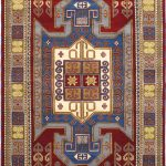 Hand-knotted Royal Kazak Red Wool Rug 6'6″ x 9'8″