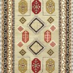 Hand-knotted Royal Kazak , Pale Dull Sprin Wool Rug 6'8″ x 9'10""