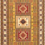 Hand-knotted Royal Kazak Light Brown Wool Rug 5'8″ x 7'10""