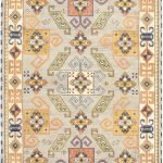 Hand-knotted Royal Kazak Light Gray Wool Rug 4'9″ x 6'7″