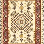 Hand-knotted Royal Kazak Cream Wool Rug 4'8″ x 6'4″