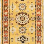Hand-knotted Royal Kazak Light Brown Wool Rug 2'9″ x 10'2″