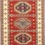 Hand-knotted Royal Kazak Dark Copper Wool Rug 5'9″ x 8'0″
