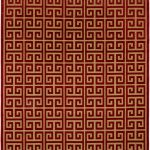 Socrates Light Brown, Red Rug 7'6″ x 10'6″