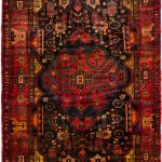 Hand-knotted Roodbar Copper Wool Rug 5'0″ x 9'2″