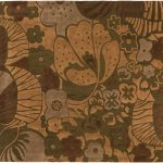 Handmade Impressions Green, Light Brown Wool Rug 7'8″ x 7'7″