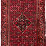 Hand-knotted Hosseinabad Red Wool Rug 5'2″ x 10'6″