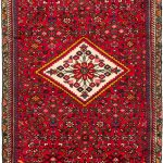 Hand-knotted Hosseinabad Red Wool Rug 4'1″ x 9'8″