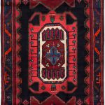 Hand-knotted Koliai Black Wool Rug 4'2″ x 10'3″