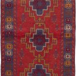 Hand-knotted Kazak Red Wool Rug 3'7″ x 6'4″ (6)