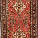 Hand-knotted Hosseinabad Copper Wool Rug 3'7″ x 13'0″