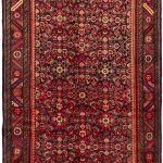 Hand-knotted Hosseinabad Red Wool Rug 4'7″ x 13'5″
