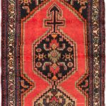 Hand-knotted Hamadan Light Red Wool Rug 2'5″ x 4'0″