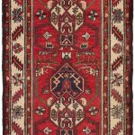 Hand-knotted Hamadan Red Wool Rug 2'8″ x 13'0″