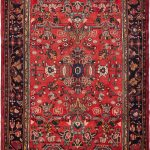 Hand-knotted Hamadan Copper Wool Rug 5'1″ x 9'6″