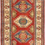 Hand-knotted Finest Gazni Red Wool Rug 2'8″ x 9'3″