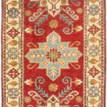 Hand-knotted Finest Gazni Red Wool Rug 2'9″ x 9'9″ (1)