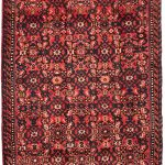 """Hand-knotted Hosseinabad Copper Wool Rug 2'11"""" x 13'6″"""
