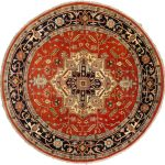 Hand-knotted Serapi Heritage Dark Copper Wool Rug 10'0″ x 10'0″ (1)