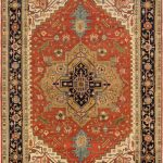 "Hand-knotted Serapi Heritage Dark Copper Wool Rug 11'11"" x 17'11"""