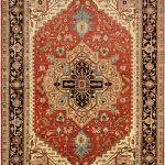 "Hand-knotted Serapi Heritage Dark Copper Wool Rug 11'10"" x 17'7″"