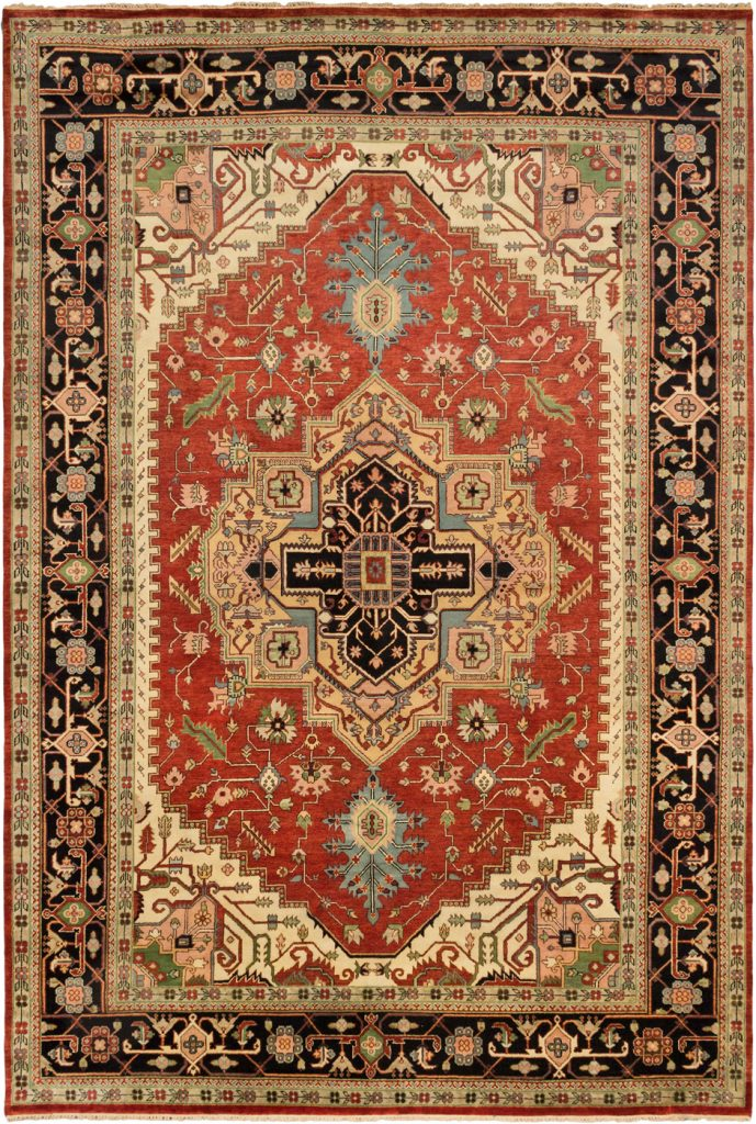 Hand Knotted Serapi Heritage Dark Copper Wool Rug 11 10 X 17 7 Area Rugs And Carpets 100 Guarantee Free Shipping