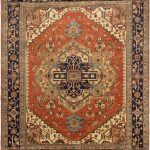 "Hand-knotted Serapi Heritage Copper Wool Rug 11'10"" x 14'9″"