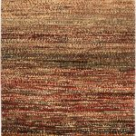 Hand-knotted Persian Gabbeh Dark Red, Khaki Wool Rug 3'2″ x 4'8″