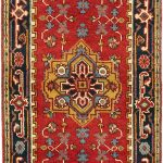 Hand-knotted Serapi Heritage Dark Copper Wool Rug 2'6″ x 8'0″ (8)