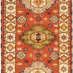 Hand-knotted Royal Kazak Copper Wool Rug 2'9″ x 8'2″ (1)