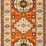 Hand-knotted Royal Kazak Dark Orange Wool Rug 2'9″ x 8'2″