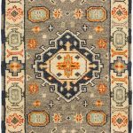Hand-knotted Royal Kazak Gray Wool Rug 2'2″ x 6'7″