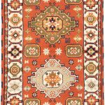 "Hand-knotted Royal Kazak Copper Wool Rug 2'10"" x 9'10"""
