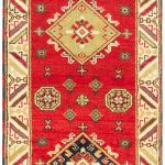 Hand-knotted Royal Kazak Red Wool Rug 2'9″ x 10'0″