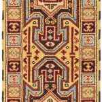 Hand-knotted Royal Kazak Light Gold Wool Rug 2'2″ x 6'7″