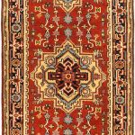 "Hand-knotted Serapi Heritage Dark Copper Wool Rug 2'7″ x 11'10"" (1)"