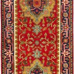 Hand-knotted Serapi Heritage Red Wool Rug 2'7″ x 12'1″