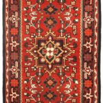Hand-knotted Royal Heriz Red Wool Rug 2'7″ x 8'0″