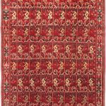 Hand-knotted Keisari Dark Red Wool Rug 6'7″ x 9'10""