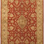 Hand-knotted Pako Persian 18/20 Dark Copper Wool Rug 5'5″ x 8'5″