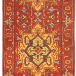 Hand-knotted Sarabi Dark Red Wool Rug 2'7″ x 20'1″