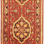 Hand-knotted Sarabi Dark Red Wool Rug 2'7″ x 21'6″
