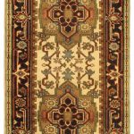 Hand-knotted Sarabi Green Wool Rug 2'7″ x 19'8″