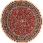 Hand-knotted Sino Persian 180L Dark Red Wool Rug 7'3″ x 7'3″