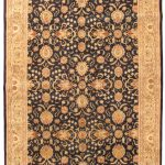 Hand-knotted Pako Persian 18/20 Black Wool Rug 6'0″ x 9'10""