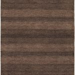 Hand-knotted Luribaft Gabbeh Riz Brown Wool Rug 4'0″ x 6'0″ (3) (5)